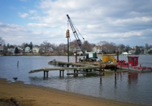 Demolition of existing fixed pier and boat ramp.