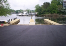 Installation of new boat ramp.
